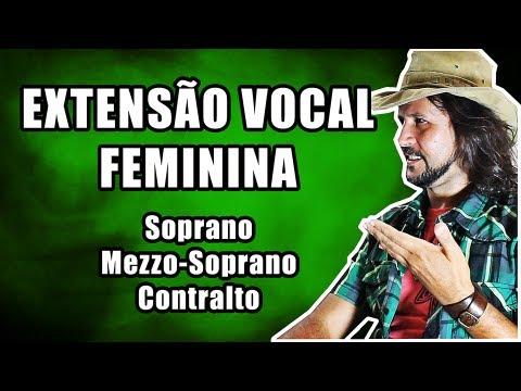 Extensão Vocal Feminina: Contralto, Mezzo-Soprano e Soprano